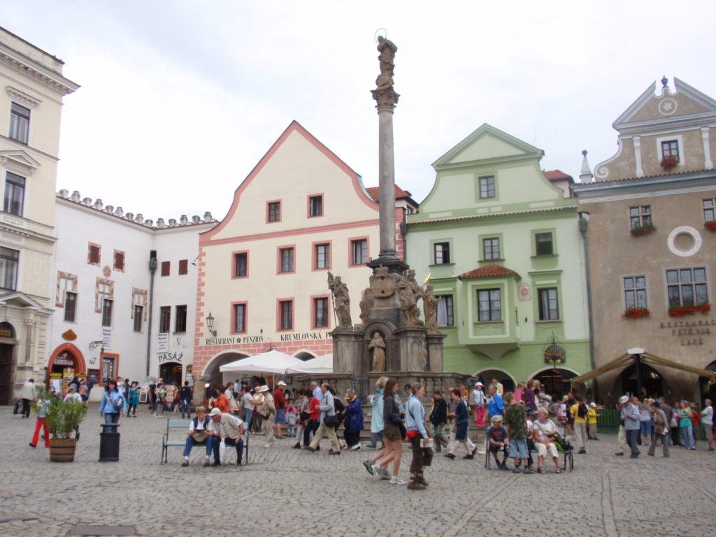 チェスキークルムロフ スヴォルノスティ広場