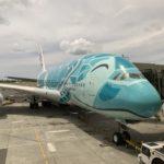 ANA フライングホヌでハワイへ ~エアバスA380搭乗記